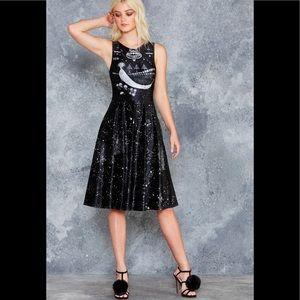 NWT Blackmilk Thousand Suns Velvet Princess Dress